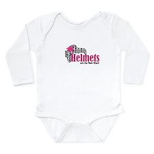 Helmets new bk Long Sleeve Infant Bodysuit