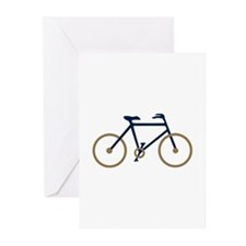 Blue and Gold Cycling Greeting Cards (Pk of 20)