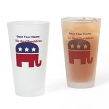 Personalize Die Hard Republican Drinking Glass