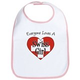 Everyone Loves Swiss Girl Bib