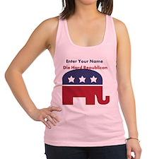 Personalize Die Hard Republican Racerback Tank Top