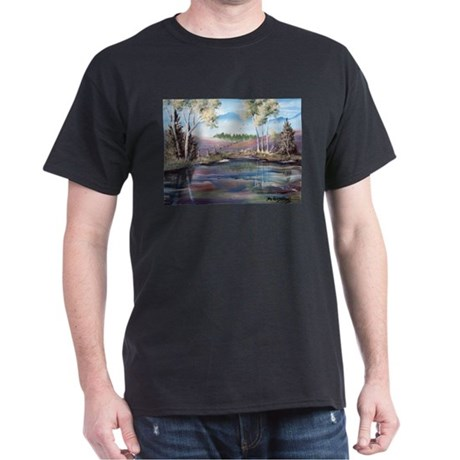 Countryside View Black T-Shirt