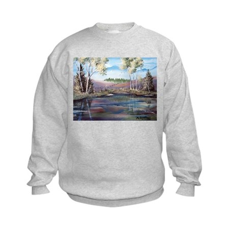 Countryside View Kids Sweatshirt