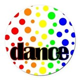 Polka Dot Dance Round Car Magnet