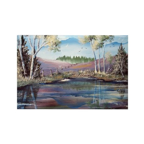 Countryside View Rectangle Magnet (10 pack)