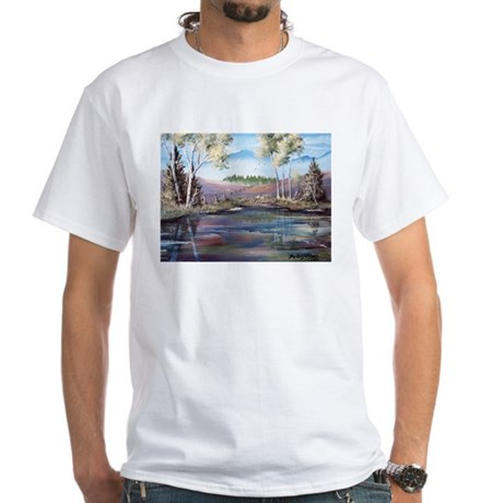 Countryside View White T-Shirt