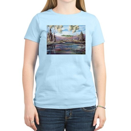 Countryside View Women's Pink T-Shirt