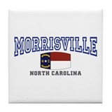 Morrisville, North Carolina, NC USA Tile Coaster