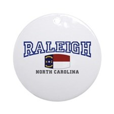 Raleigh, North Carolina, NC USA Ornament (Round)