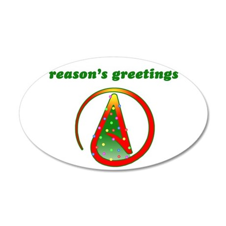 Reasons Greetings 20x12 Oval Wall Decal