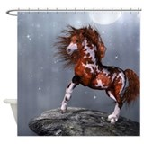 Native Horse Shower Curtain