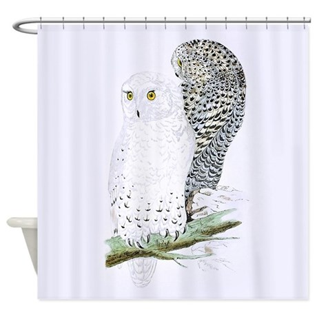 snowy owl shower curtain by vintagelove1