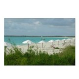 Bahamas Beach Umbrellas Postcards (Package of 8)