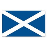Scotland Flag, Scottish Flag Rectangle Decal