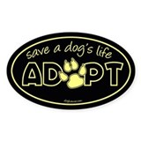 Save a Dog's Life - Adopt Oval Decal