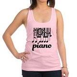 Piano Music Design Racerback Tank Top
