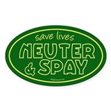 Save Lives (Green) Oval Decal