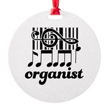 Organist Music Gift Round Ornament