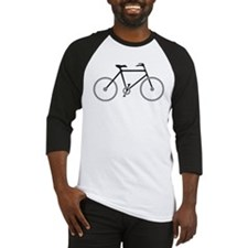 Black and Silver Cycling Baseball Jersey