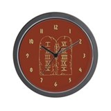 Unique Bath time Wall Clock