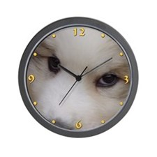 "Great Pyrenees Wall Clock ""Puppy Eyes"""