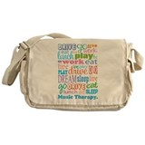 Music Therapy Colorful Messenger Bag