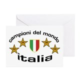 italia campioni - oval Greeting Cards (Package of