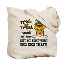 Trick or Treat Smell My Feet Halloween Tote Bag