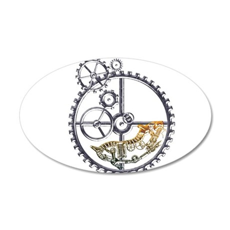 Industrial Hamster in a wheel 20x12 Oval Wall Deca