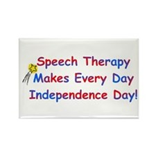 Speech Therapy Independence Rectangle Magnet