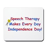 Speech Therapy Independence Mousepad