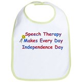 Speech Therapy Independence Bib