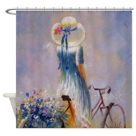 Vintage Bicycle Shower Curtain By Vintagelove1