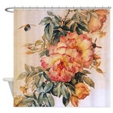 Pale Orange Roses Shower Curtain
