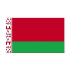 Flag of Belarus Rectangle Car Magnet