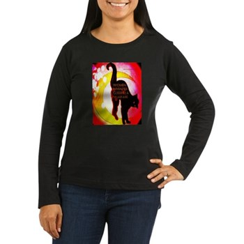Women Invented Guerrilla War Women's Lg Slv Dark T