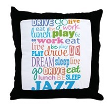 Jazz Music Quote Throw Pillow