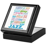 Jazz Music Quote Keepsake Box
