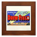 Drew Field Tampa Florida Framed Tile