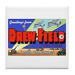 Drew Field Tampa Florida Tile Coaster