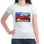 Drew Field Tampa Florida (Front) Jr. Ringer T-Shir