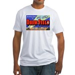 Drew Field Tampa Florida (Front) Fitted T-Shirt