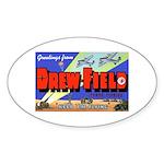 Drew Field Tampa Florida Oval Sticker