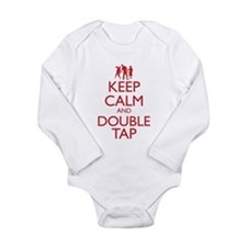 Keep Calm and Double Tap Long Sleeve Infant Bodysu
