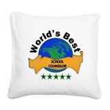 Funny Heart globe Square Canvas Pillow
