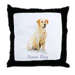 Labrador Retriever Holiday Throw Pillow