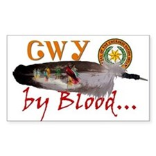Cherokee by Blood Decal