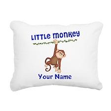 Monkey Boy Kids Personalized Rectangular Canvas Pi