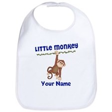 Monkey Boy Kids Personalized Bib