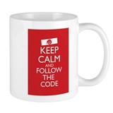Keep Calm and Follow the Code Small Mug